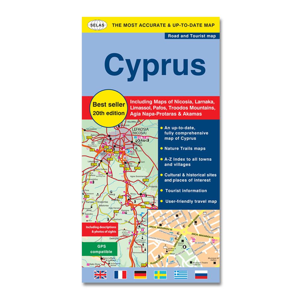 Odikos Toyristikos Xarths Ths Kyproy Agglika Selas Mapping