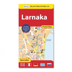 Pocket Street Map of Larnaka In English