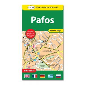 Pocket Street Map of Pafos In English