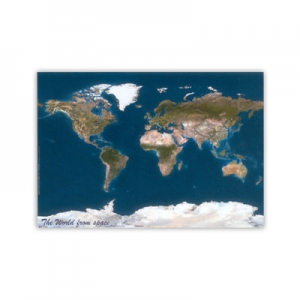 World Wall Map Satellite Image
